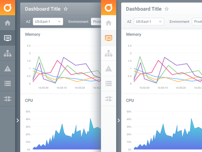 UI Colour Options ux interface menu charts platform web design dashboard app ui