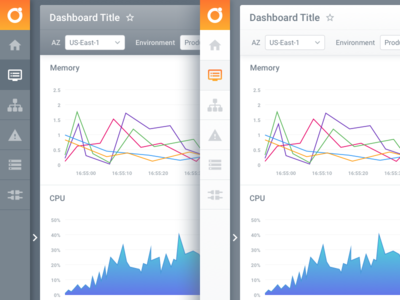 UI Colour Options ux interface menu charts platform web design dashboard app ui