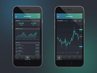Ethereum Wallet design ux app ui iphone ios bitcoin ethereum trading forex crypto