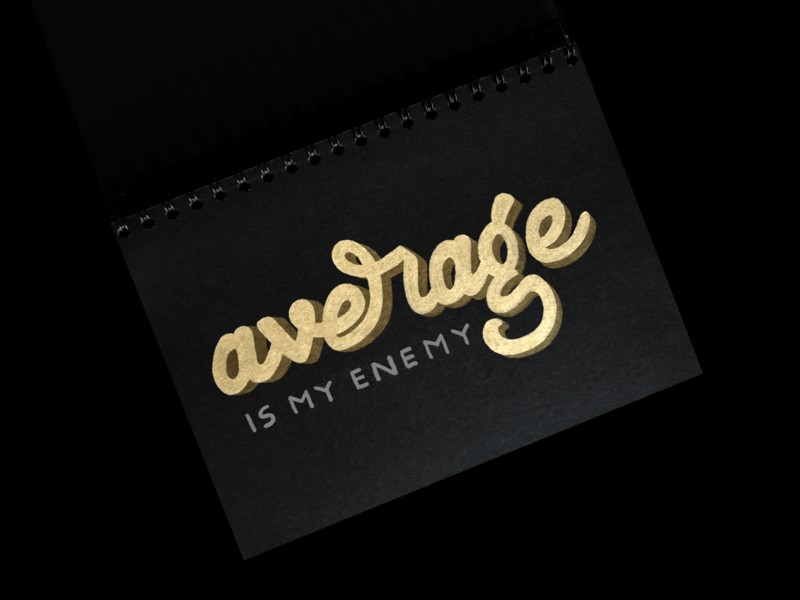 Average Is My Enemy logo type logotype lettering hand made type handmadetype hand lettering handlettering hand drawn lettering handdrawnlettering