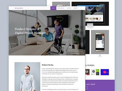 New Personal Website for 2016 case studies product designer wordpress resume web design semplice ui personal