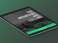 The mountains are calling –refined tablet