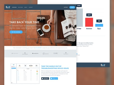 Fixt landing page