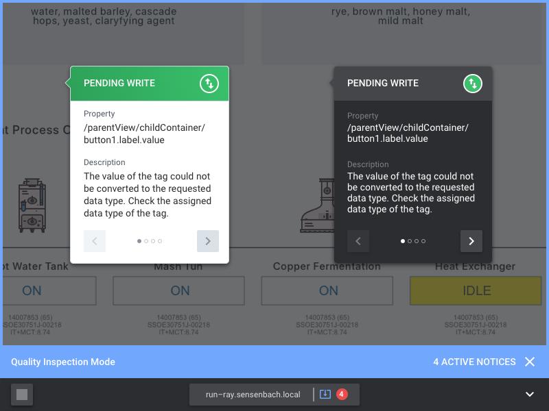 Popover Explorations popover modal dark inverse webapp ui errors alarm property inspect helper tooltip