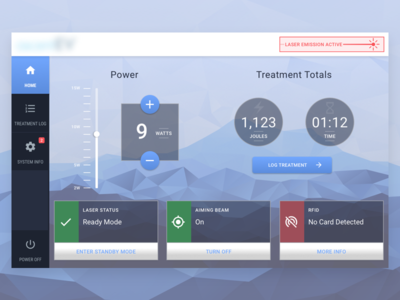 Medical Device Tablet Dashboard