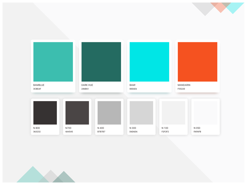 Brand Color Palette material design style guide brand book ui style palette material guidelines guide identity color branding