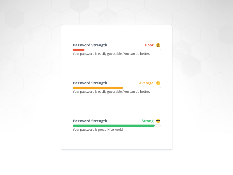 Password Strength Meter meter ux user interface style guide sign up password login input icon form ui daily