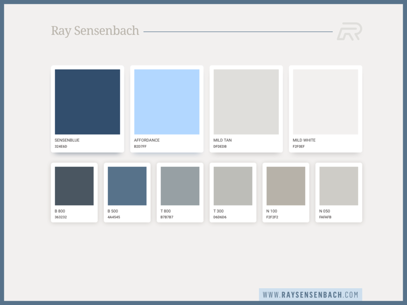 Personal Brand Color Swatches uidesign portfolio style guide styles pallete material identity guidelines guide color branding brand book