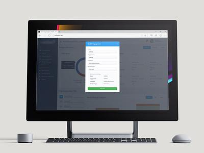 Engagement Switcher Modal - Marketing Analytics table product sidebar graph data interface ui web app chart user interface ui design dashboard