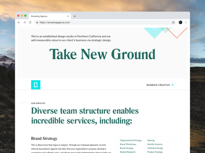 Agency Website Screens 1/3 design responsive website agency branding agency landing page web design freelance ui design interface user interface ux