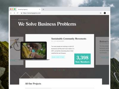 Agency Website Screens 3/3 ux user interface interface ui design freelance web design landing page branding agency agency website responsive design
