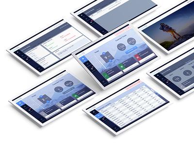 Medical Tablet App Screens dashboard data interface ui user interface web app medical app medical design skincare tablet touch