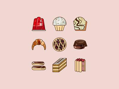 Bakery theme icons bakery bitmap vector icon