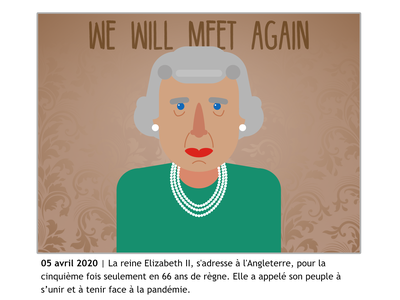 April 2020 covid19 speech england queen elizabeth 2020 design vector illustration