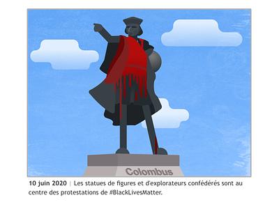 June 2020 protests blacklivesmatter blm colombus affinitydesigner 2020 design vector illustration