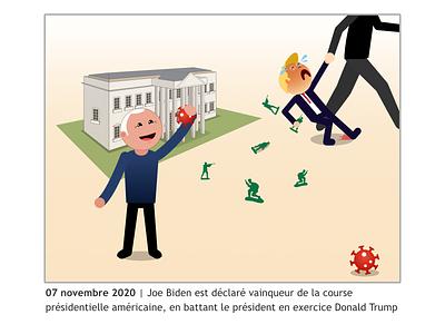November 2020 usa elections biden trump illustration vector design 2020