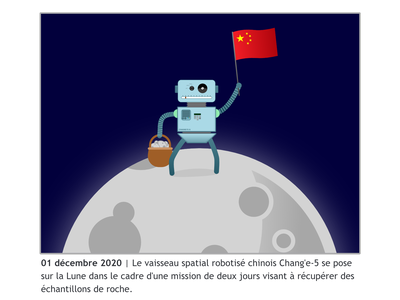 December 2020 expedition moon space china 2020 design vector illustration