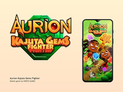 Logo Aurion Kajuta Gems Fighter africa cameroon cameroun fun typography typo app game mobile graphic design branding logo
