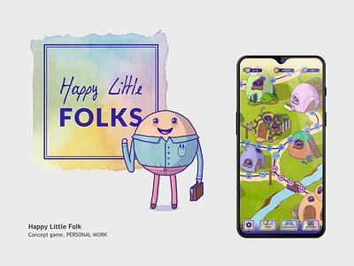Logo Happy Little Folks watercolor typography branding logo design illustration graphic design