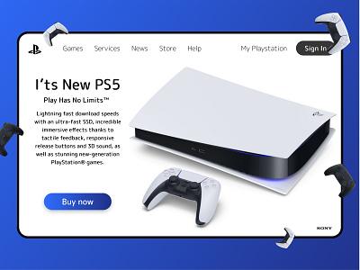 PS5 lxve ux ui design