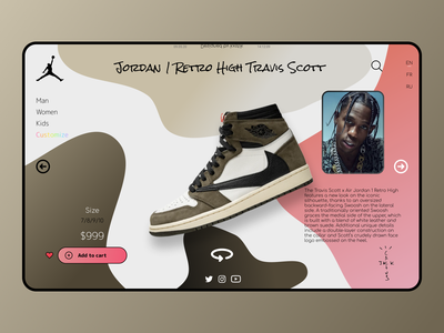 Jordan 1 Retro High Travis Scott ux ui design