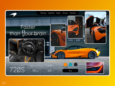 McLaren 720S lxve ux ui design