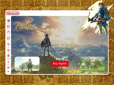 The Legend of Zelda: Breath of the Wild lxve ux ui design