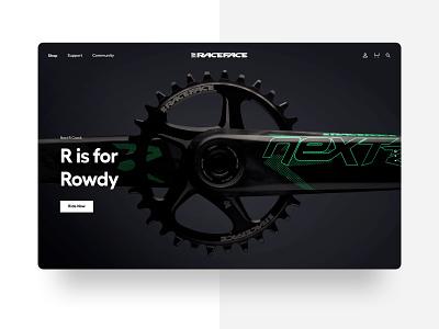 Raceface – E-Commerce Redesign shopifyplus ui design digital interaction website design shopify e-commerce