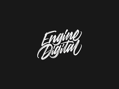 Engine Digital – Handstyle Wordmark wordmark branding identity design identity logo hand lettering handstyle