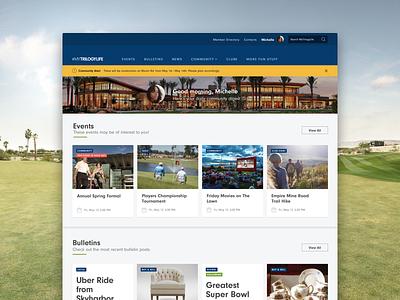 MyTrilogyLife Platform Redesign platform cards network social brand app responsive website