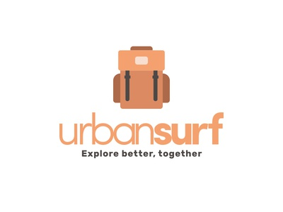 Urbansurf - Travelers' app to get socialize in small groups ux ui travel simple profile memory ios logo app activity