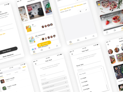 Recipes and Shopping List App list shopping cooking material store clean prototype interface ux ui android ios