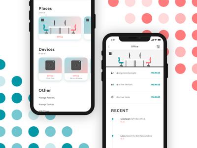 Mint Smart Alarm 2018 clean interface smart home alarm simple ios app branding logo