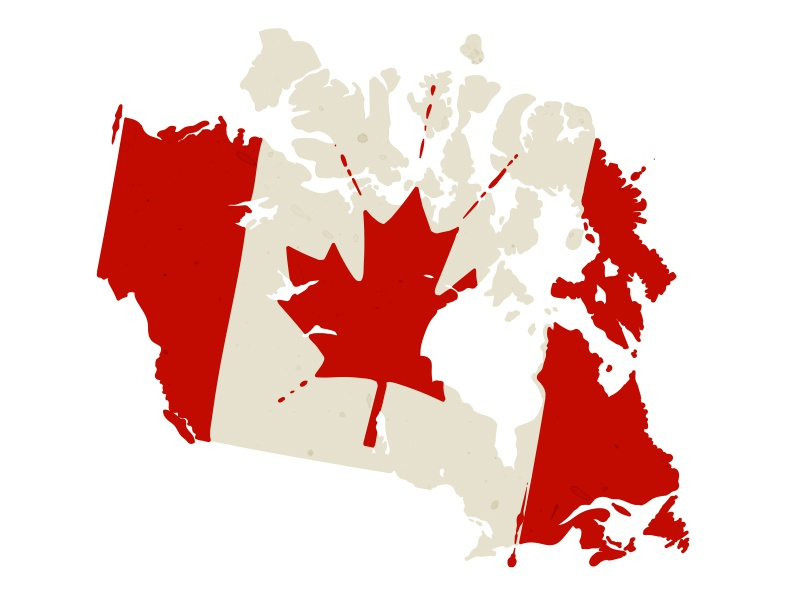 Map Of Canada Red.Canadian Land Mass By Drew Gilchrist On Dribbble