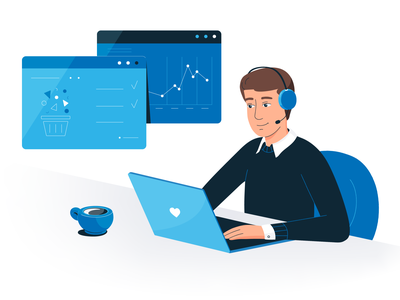 Office worker meeting call man awesome design freelance illustrator freelance design boy illustration job best shot awesome graphicart graphicdesign business character design blue and white characterdesign office flatillustration vector vectorillustration