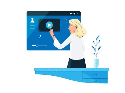 Join Us! blue and white business teamwork intranet office characterdesign graphicdesign digitalart flatillustration flatdesign vector officeworker company