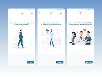 Take care - Onboarding branding logo vector app design icon ui colors illustraion medical user experience user interface design userinterface uxui