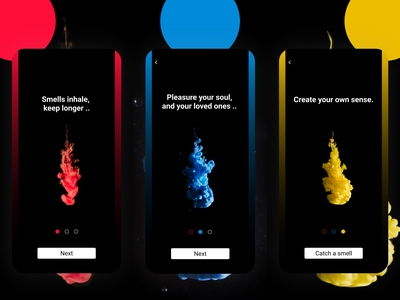 Smell - App concept - Onboarding dailyui onboarding user interface userexperience design ui ux app userinterface colors uxui