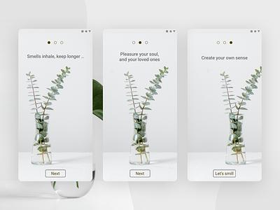 Smell - App concept - Light mood userexperience branding user interface dailyui design colors user experience userinterface ui app uxui