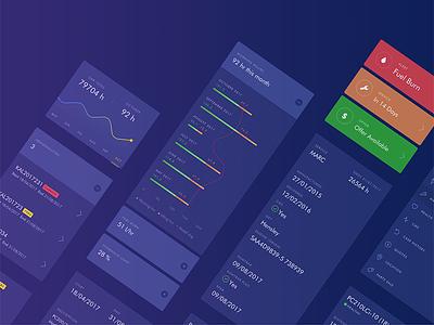 UI Kit icon graph purple blue mobile app kit ui