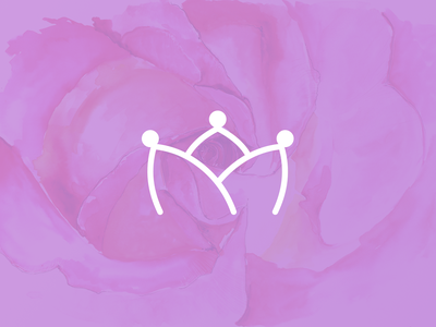 Herlandia Logo flower crown flower purple logotype logo