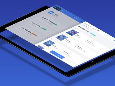 Foodsaurus - Ordered Products overlay modal list order details order food blue app tablet app ios tablet