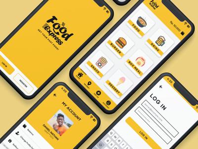 FoodExpress Mobile App Design mobile ui app ux ui design