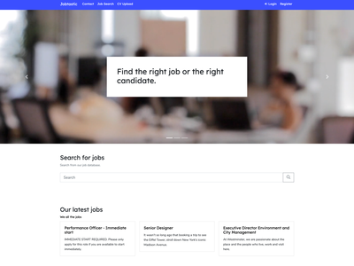 Jobtastic - Homepage webdesign web index homepage home
