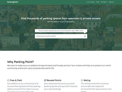 ParkingPoint - Homepage web webdesign design homepage design homepage