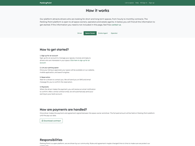 ParkingPoint how it works how it works web webdesign