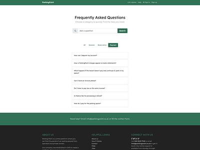 ParkingPoint - FAQs design webdesign web faqs