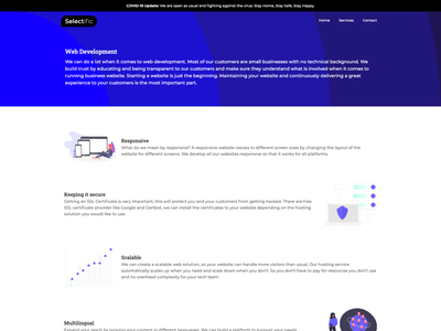 Web Development Service simple design webdesign web
