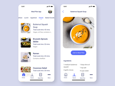 meal plan 1/2 figma native app ui mobile mobile app design mobile design mobile ui