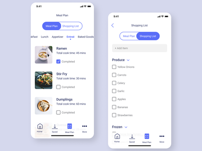 meal plan 2/2 vector mobile design mobile app design ui design ui mobile ui mobile made with figma figma